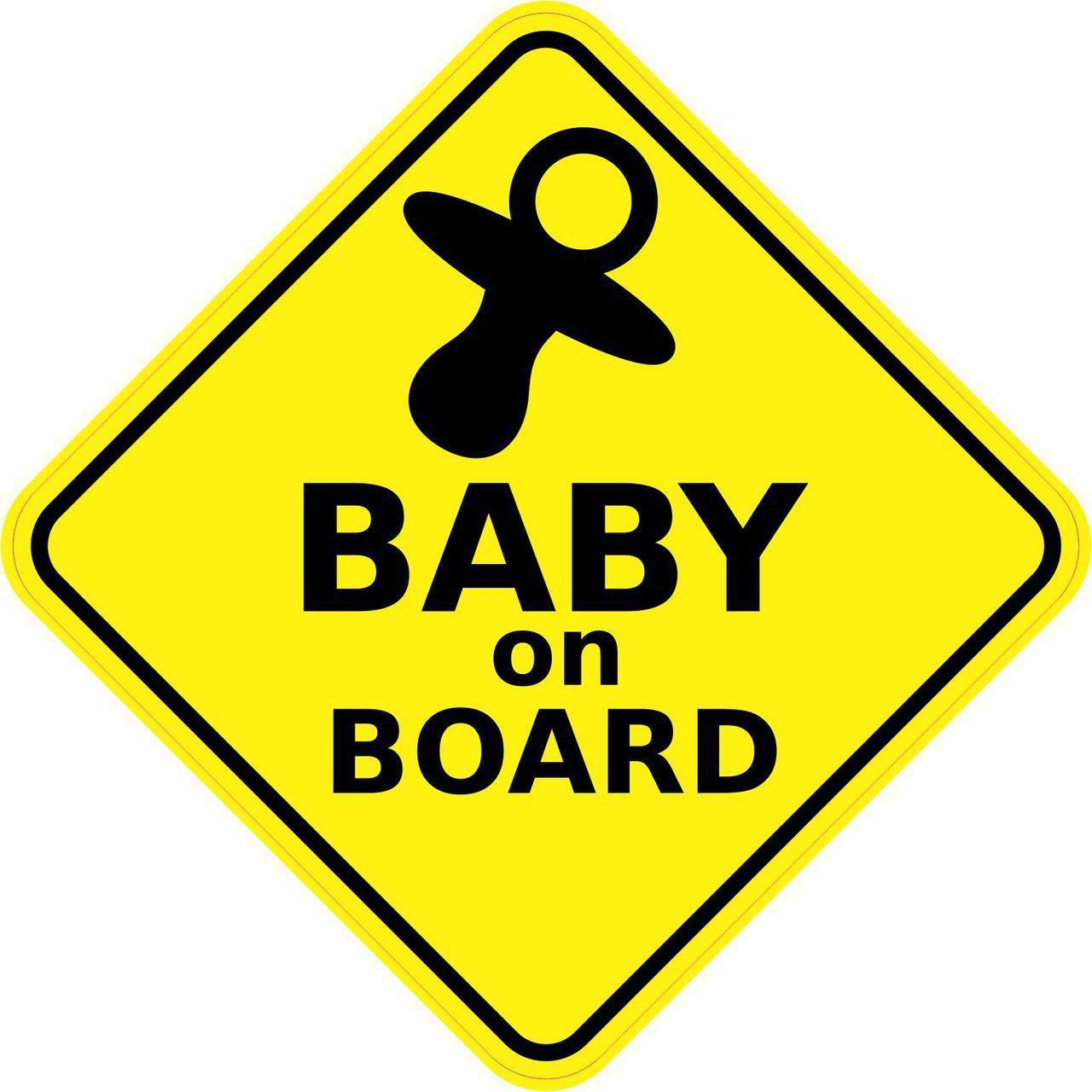 5inx5in baby on board sticker vinyl window sign car decal safety stickers stickertalk. Black Bedroom Furniture Sets. Home Design Ideas