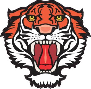 4.5″x4.5″ Red Tiger Head Mascot Bumper Sticker Decal Window Stickers Decals
