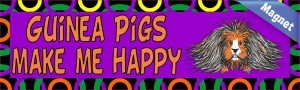 10in x 3in Guinea Pigs Make Me Happy Animals Magnet Magnetic Vehicle Sign