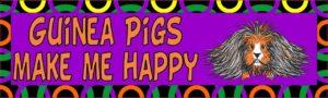 10in x 3in Guinea Pigs Make Me Happy Animals Bumper Sticker Vinyl Window Decal