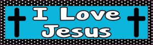 10in x 3in I Love Jesus al Bumper Sticker Vinyl Window Decal