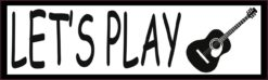 Let's Play Guitar Bumper Sticker