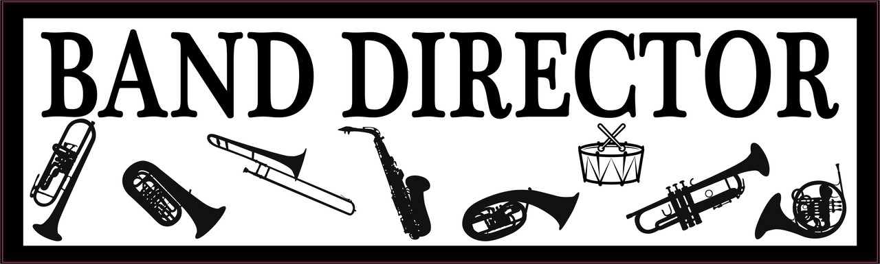 10in x 3in band director bumper sticker vinyl music education car decal