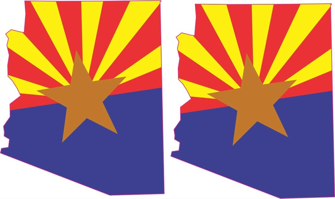 (2x) Die Cut Arizona Flag Stickers