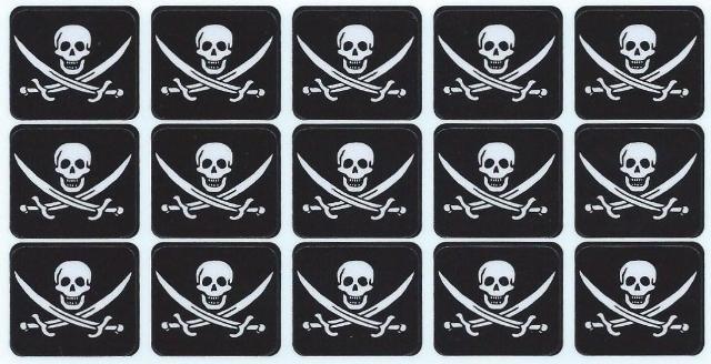 Jolly Roger Pirate Flag Bumper Sticker