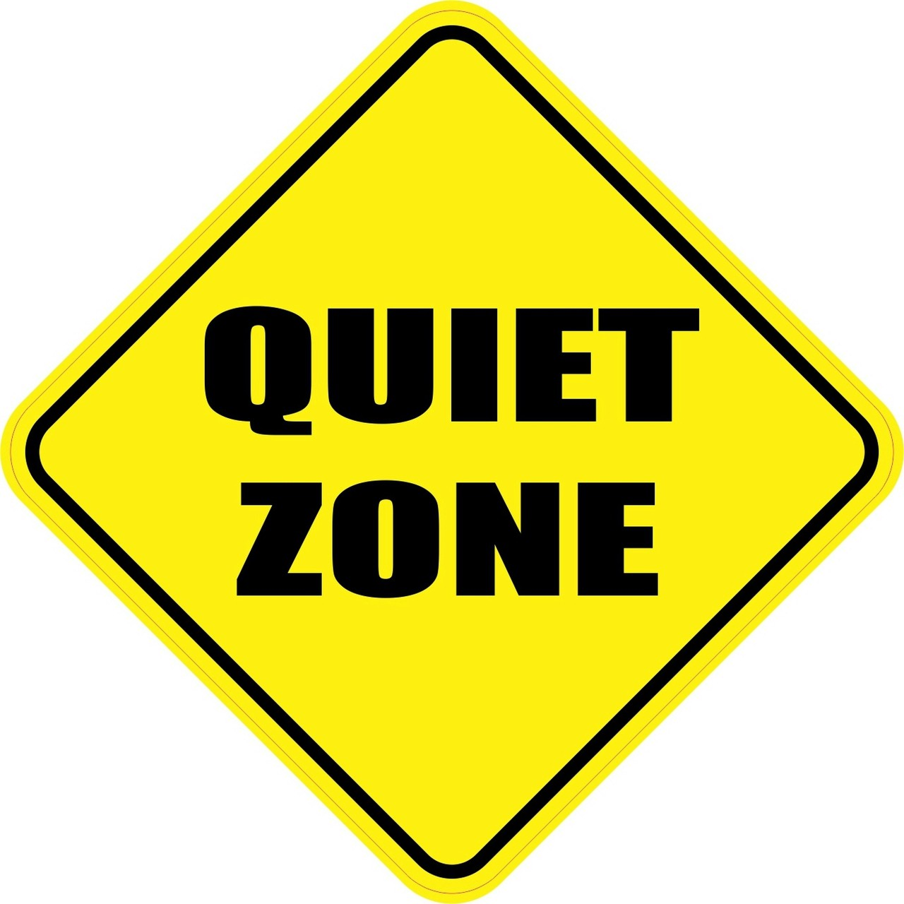 5in x 5in Quiet Zone Magnet Magnetic Door Sign School ...