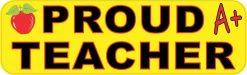 Proud Teacher Vinyl Sticker