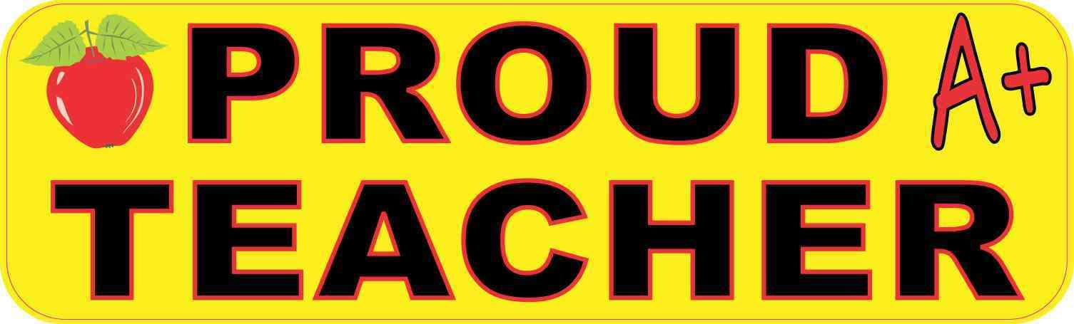 10in X 3in Proud Teacher Vinyl Sticker Stickertalk 174