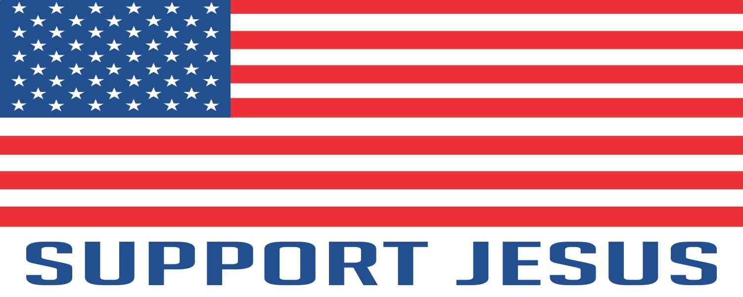 Support Jesus Political US Flag