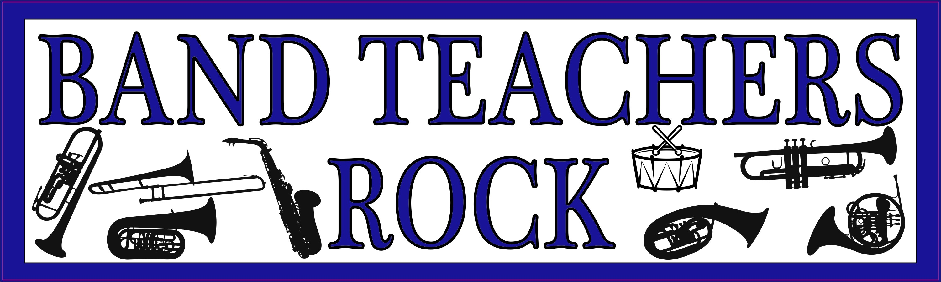 Blue Band Teachers Rock Bumper Sticker