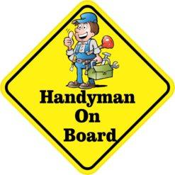 Handyman On Board Sticker