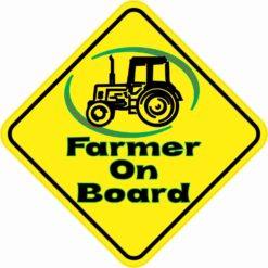 Farmer On Board Sticker