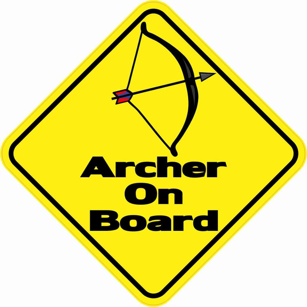 Archer On Board Sticker