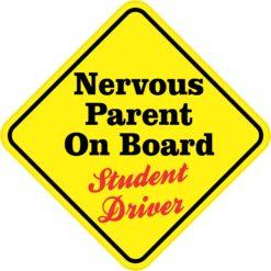 Nervous Parent On Board Sticker