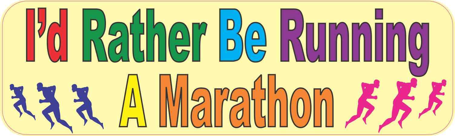 Car Sticker Run-JOGGING MARATHON 063 Sticker