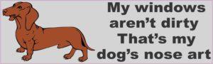 b-50-7 dog nose art dachund