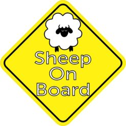 Sheep On Board Magnet