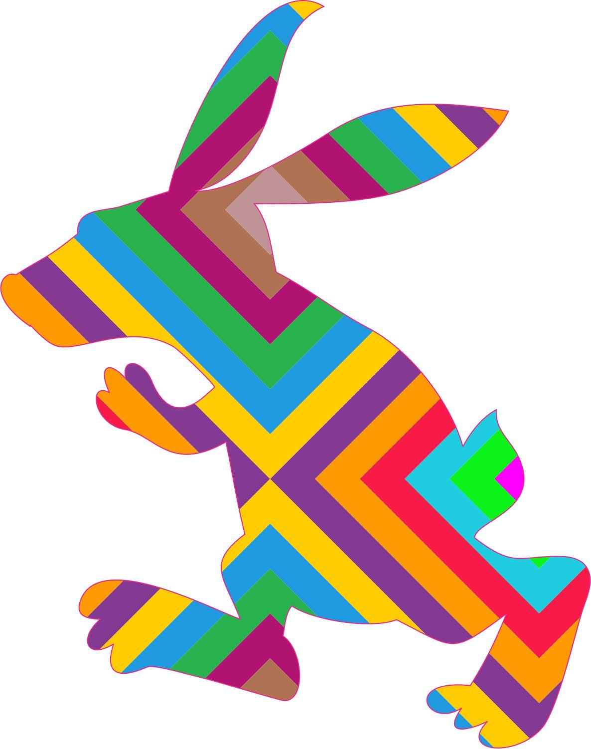 Striped Grumpy Rabbit Car Decals