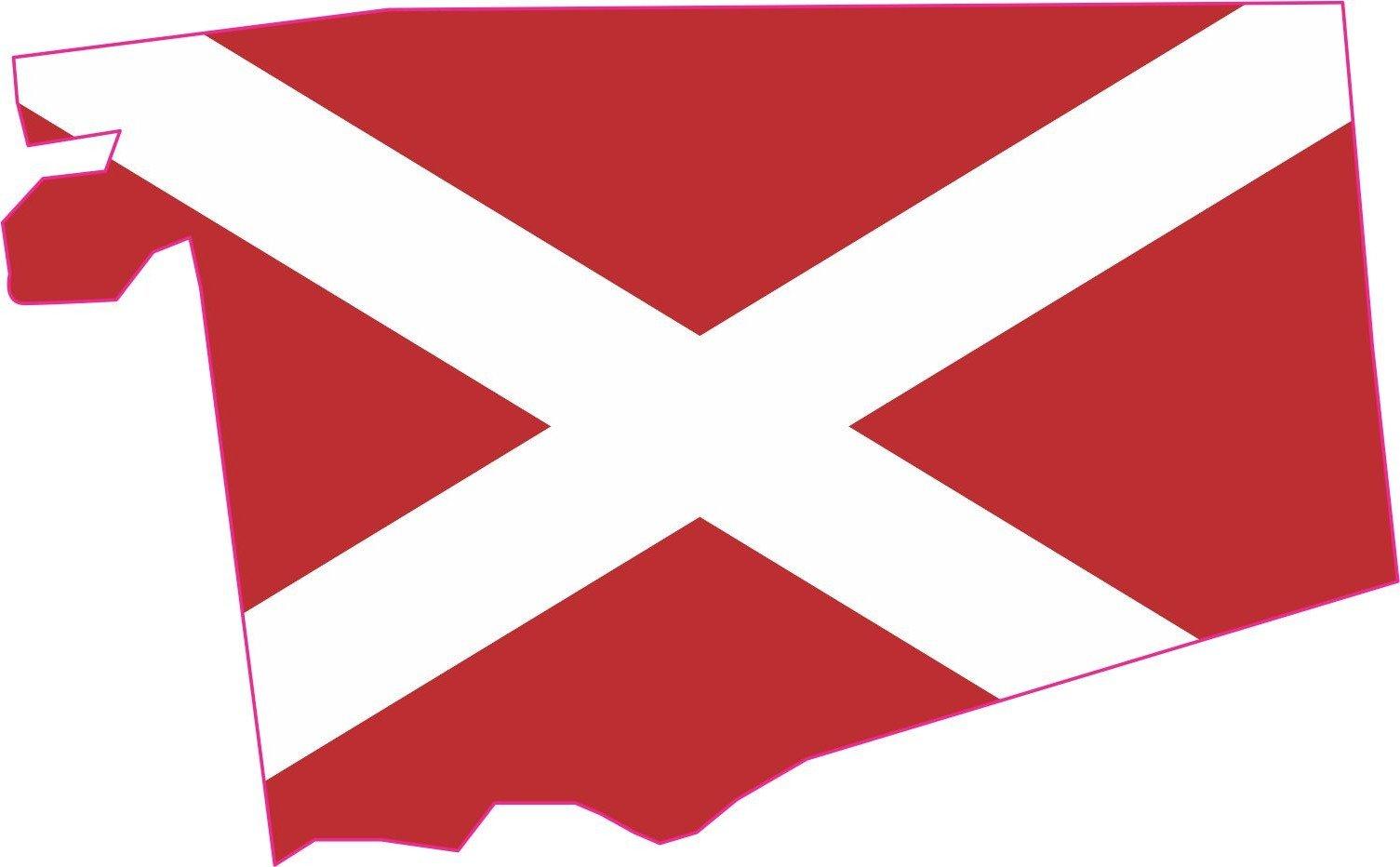 Die Cut Alabama Flag State Sticker