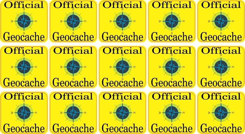 geocache micro cache stickers