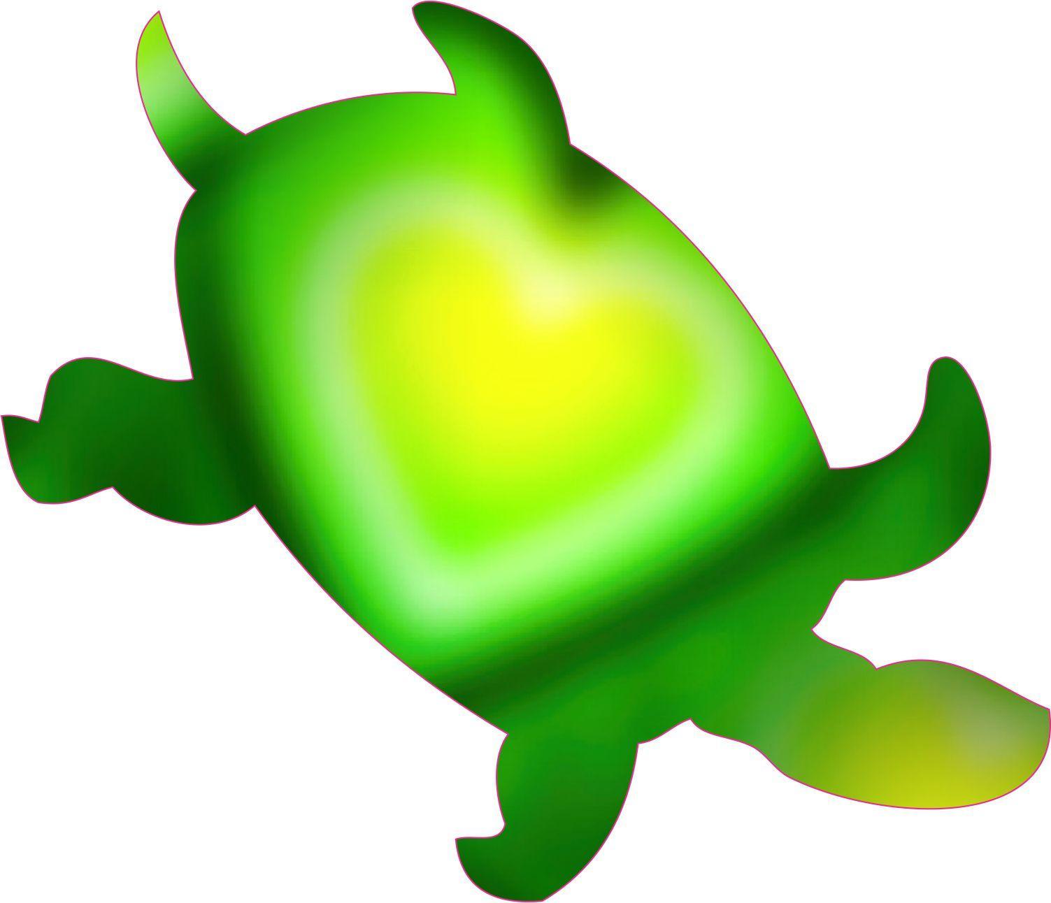 Green Fade Sea Turtle Stickers