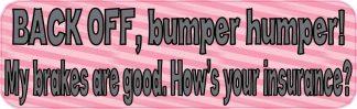 bumper humper sticker