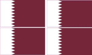 Qatar flag bumper sticker