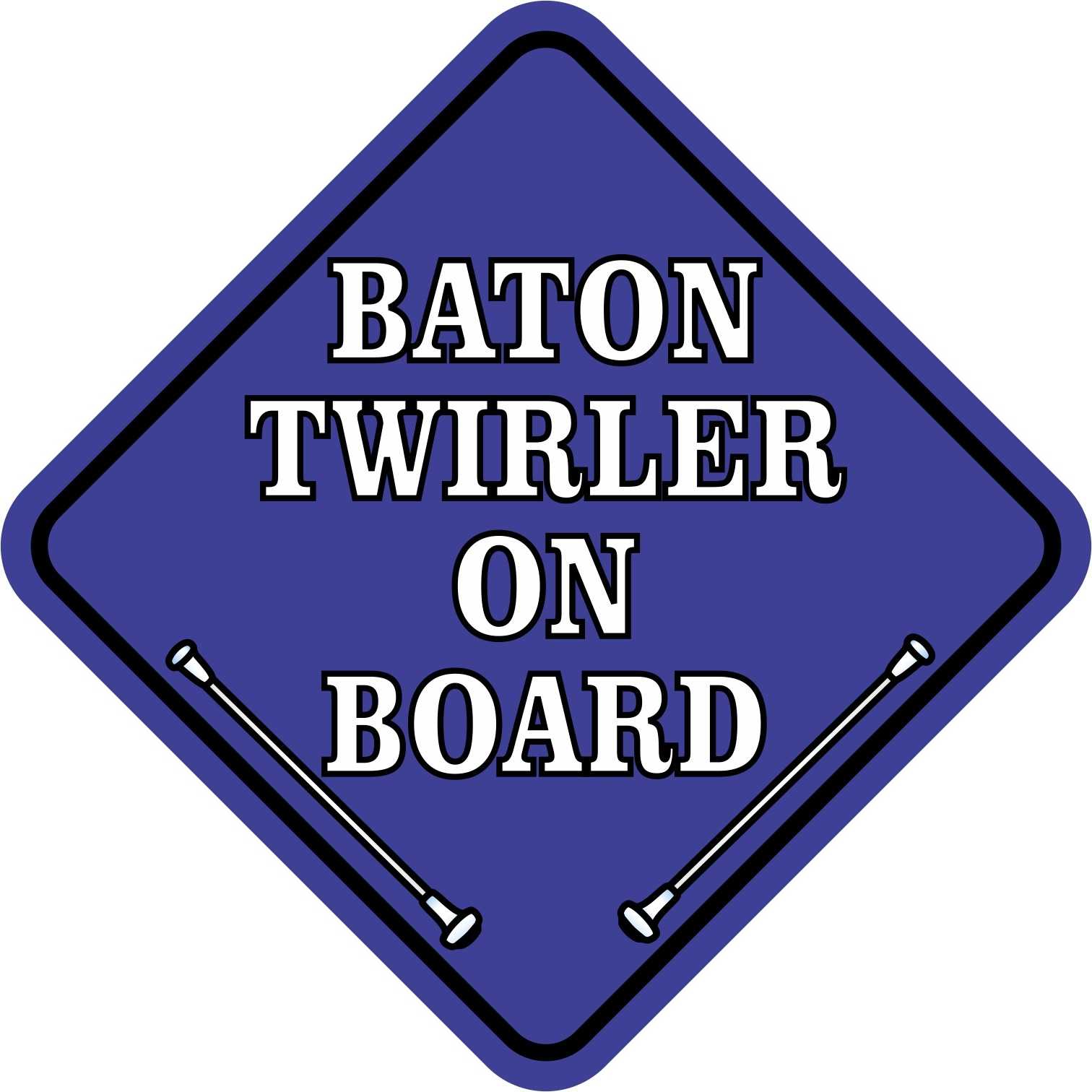 Blue Baton Twirler on Board Magnet