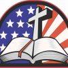 American Cross Bible bumper sticker