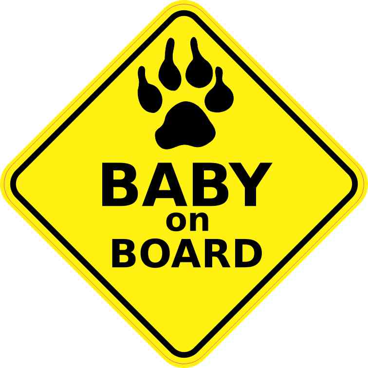 Dog Baby on Board Sticker