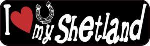 I Love My Shetland bumper sticker