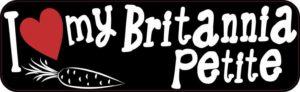 I Love My Britannia Petite bumper sticker
