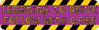 Purple Learning To Drive bumper sticker