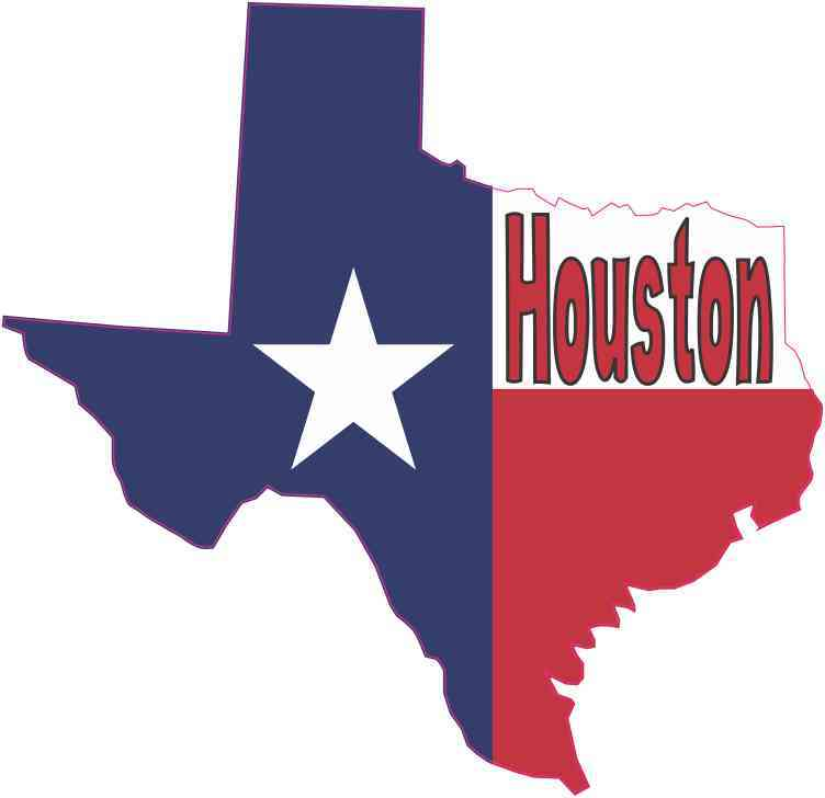 Houston texas flag decal