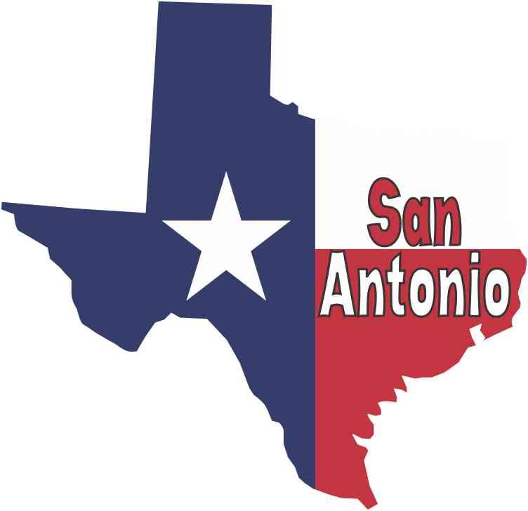 5 X 5 San Antonio Texas Flag Car Decal Bumper Sticker