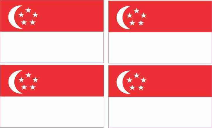 Singapore Flag bumper sticker