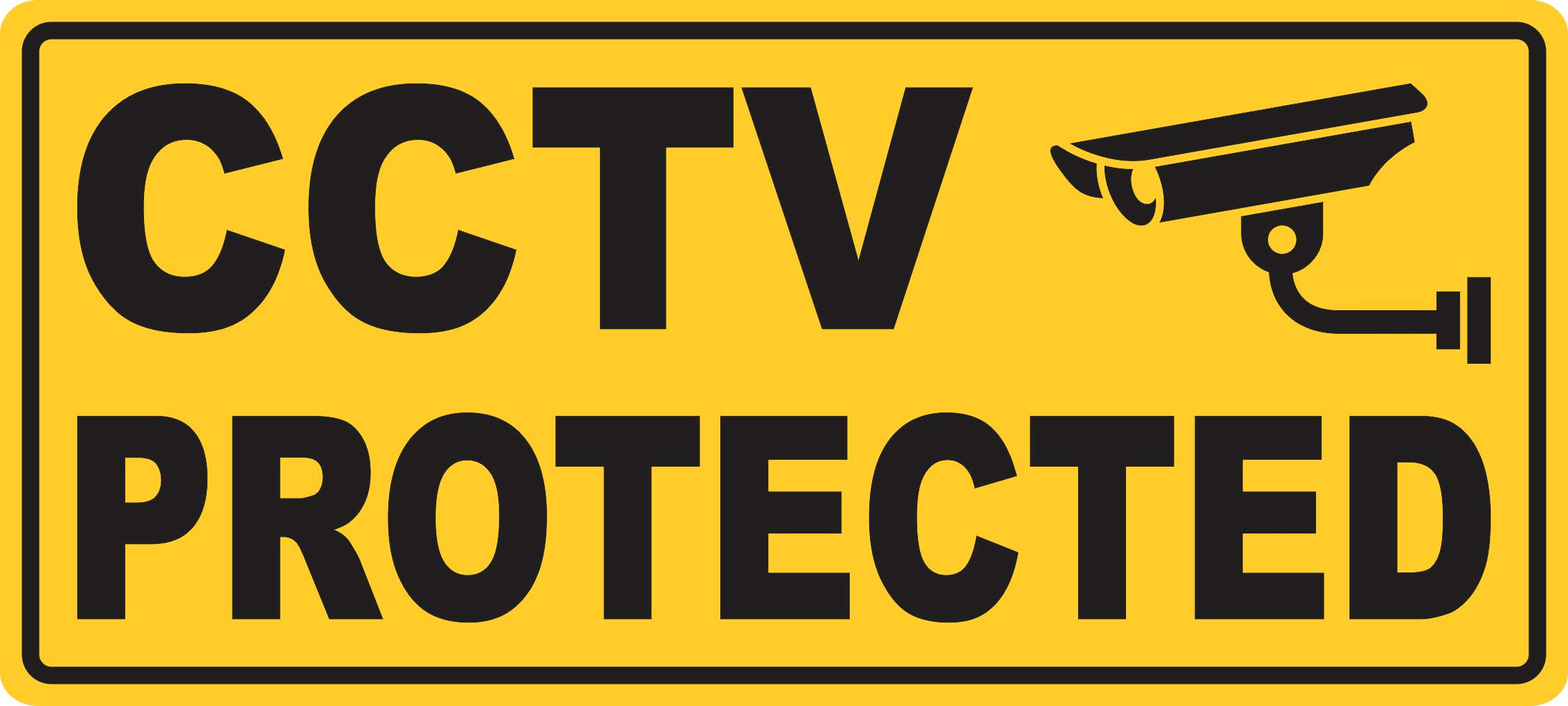 10in X 4 5in Cctv Protected Magnet Signs Vinyl Magnetic