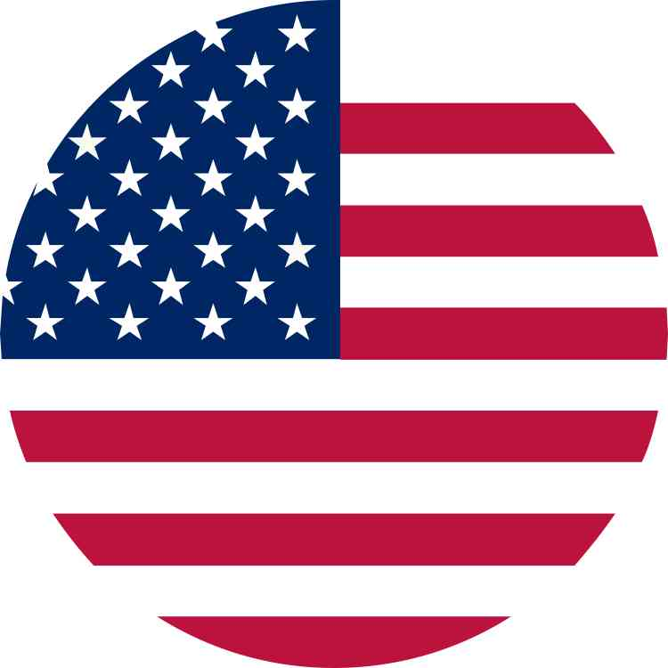 Bumper sticker design and print - 5in Circular American Flag Sticker Vinyl Flags Car Bumper Stickers