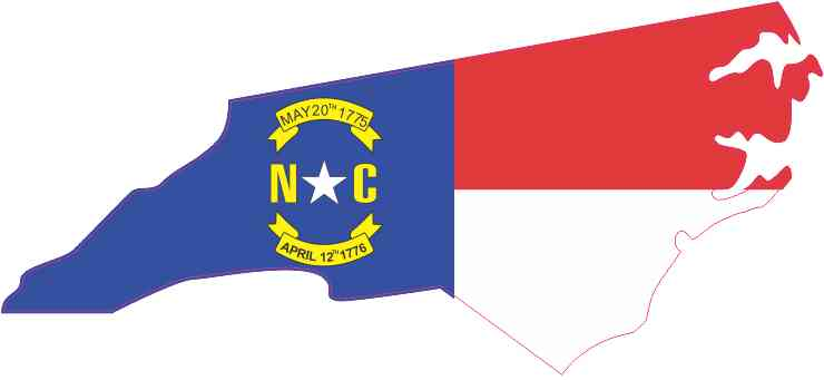 North Carolina Home Decal Sticker5.5-Inches By 2.5-Inches