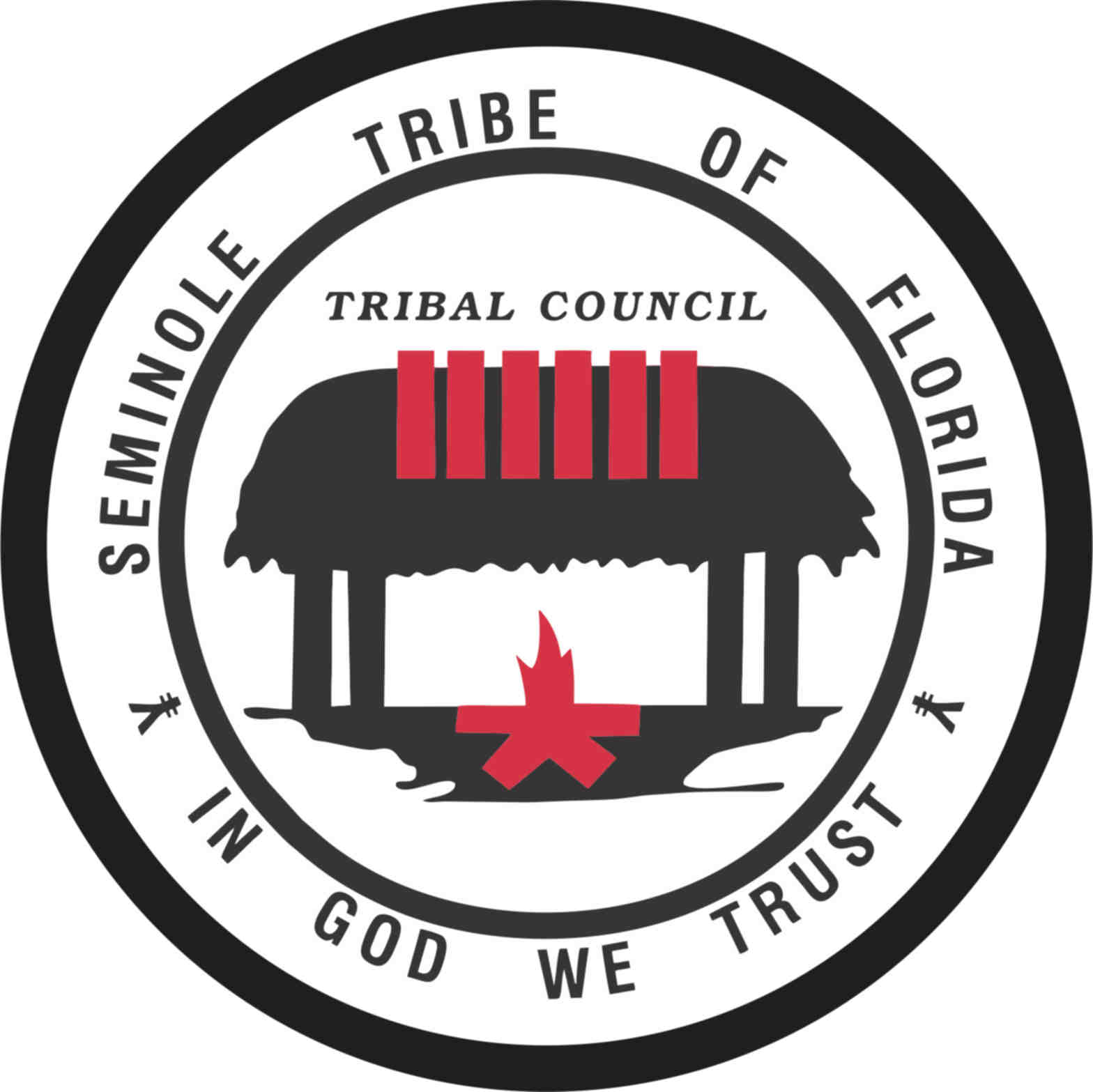 5in x 5in seminole tribe of florida seal sticker vinyl tribal stickers stickertalk
