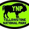 Green Buffalo Yellowstone National Park Sticker