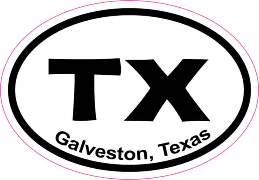Oval galveston sticker