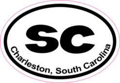 Oval Charleston sticker
