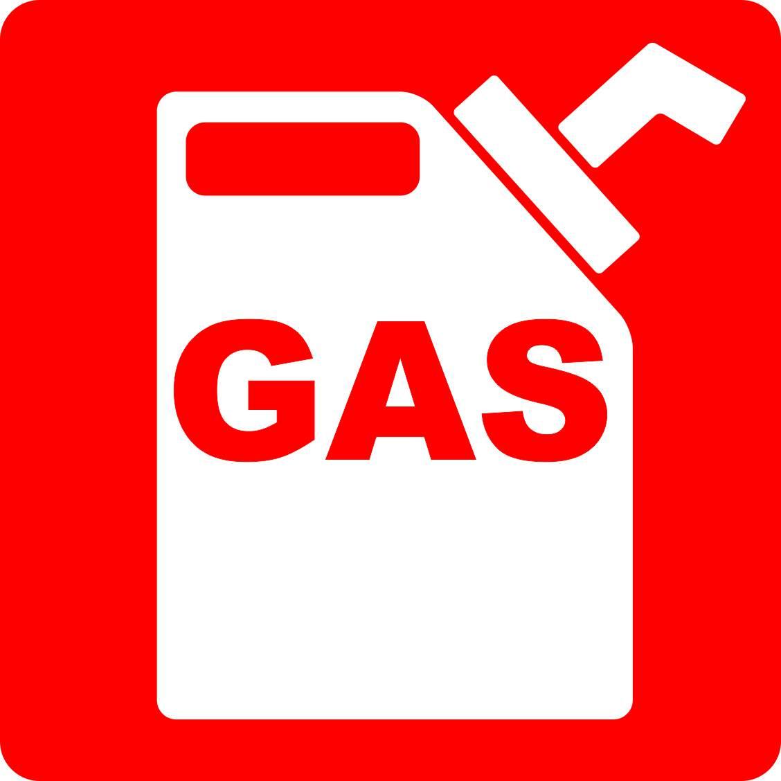 5in X 5in Gas Magnet Vinyl Truck Door Signs Fuel Safety