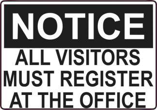 visitors must register