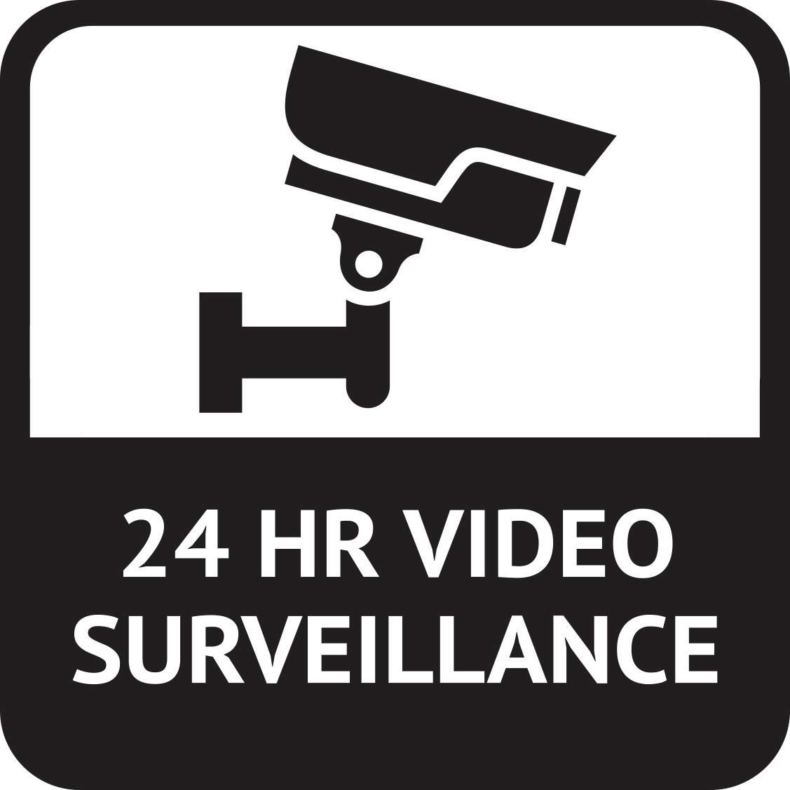 5in x 5in 24 hr video surveillance magnet vinyl magnetic. Black Bedroom Furniture Sets. Home Design Ideas