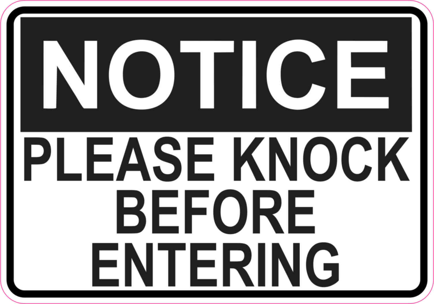 Irresistible image pertaining to please knock sign printable