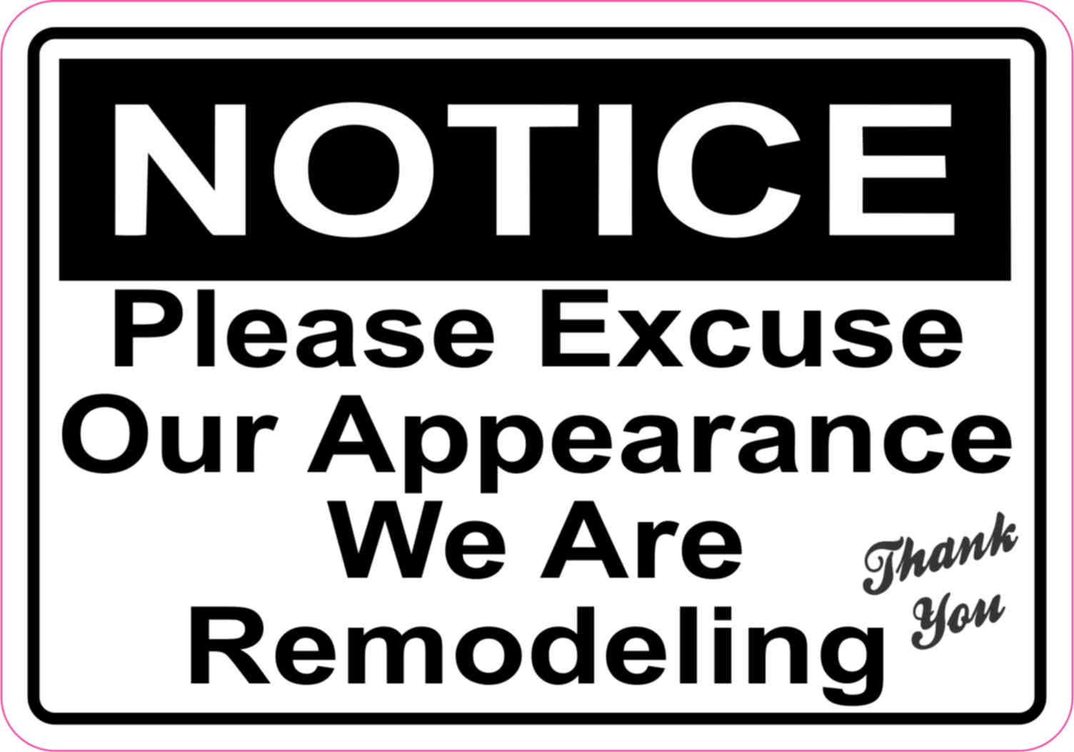 Selective image in please excuse our mess printable sign