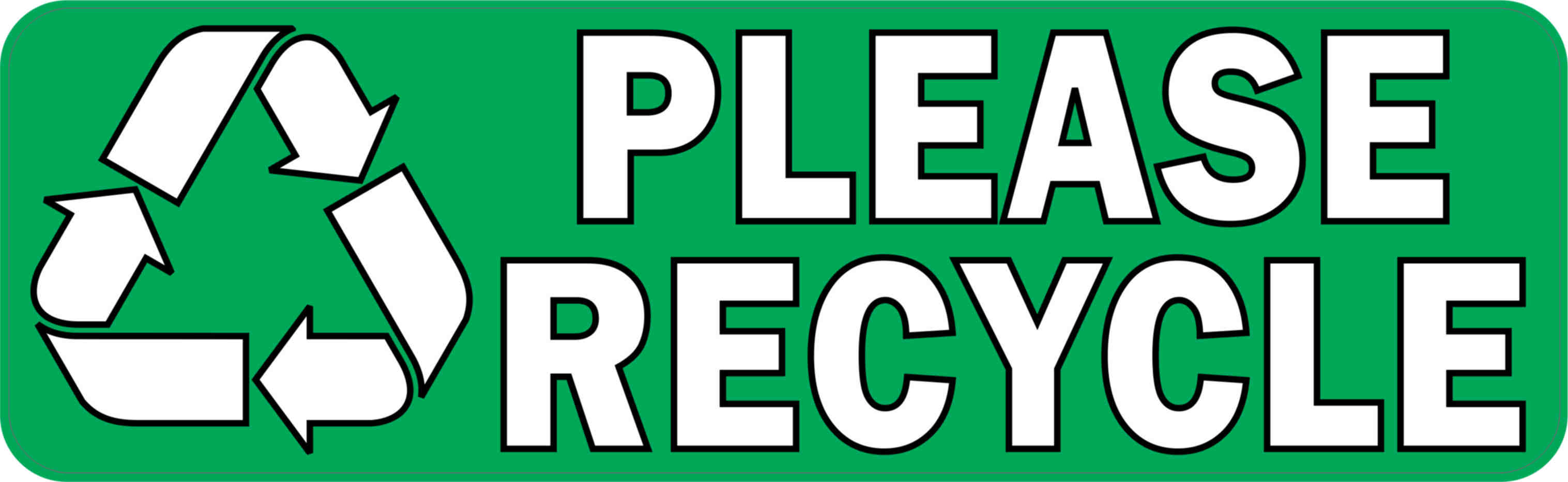 10in 215 3in please recycle sticker vinyl recycling sign