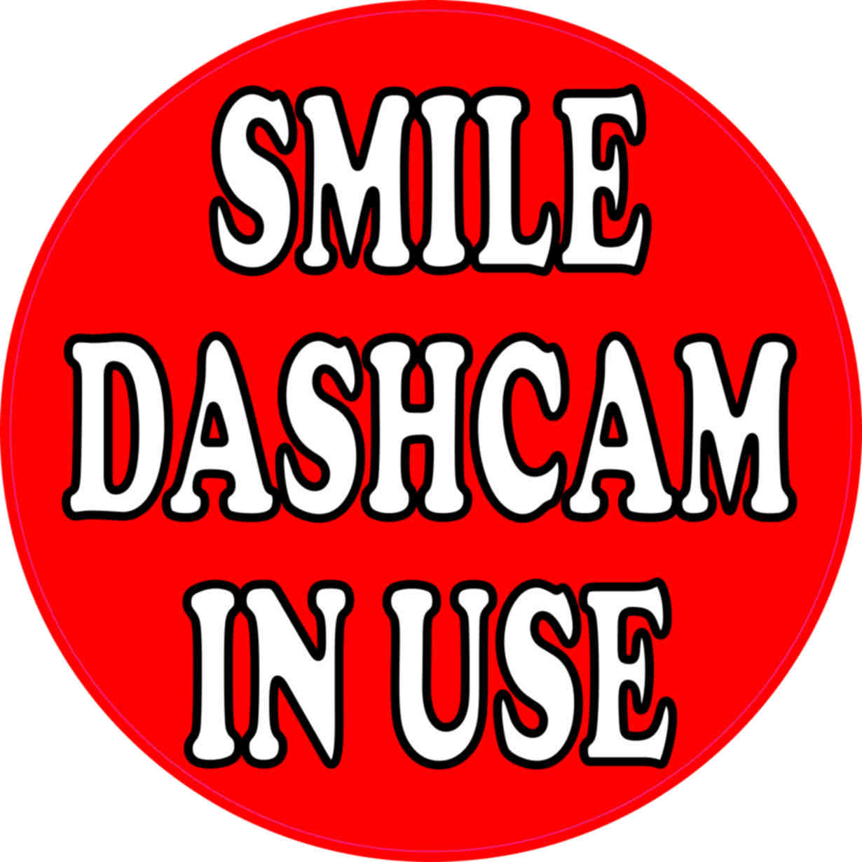 dashboard camera sticker